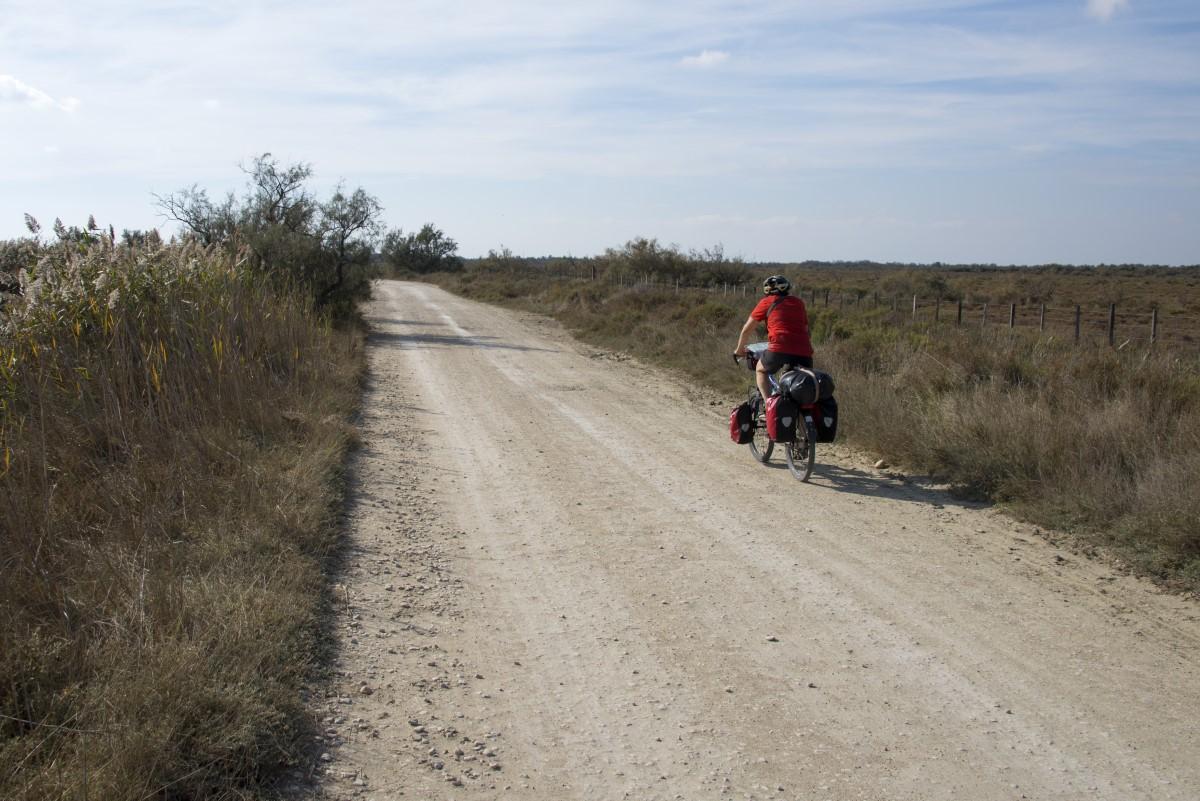 weg door de Camargue)