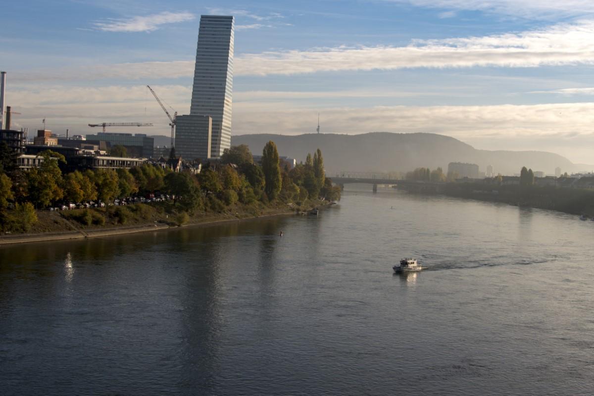 De rijn bij Basel