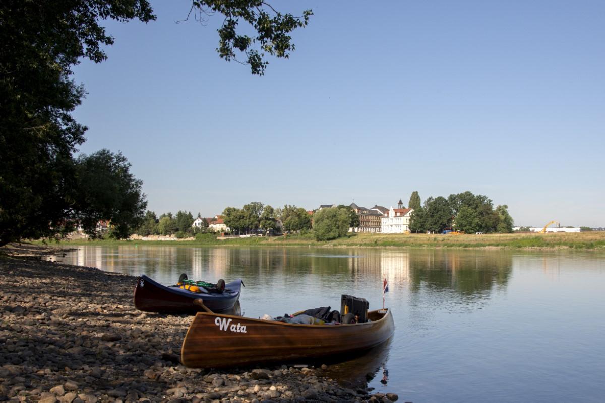 oever van de Elbe