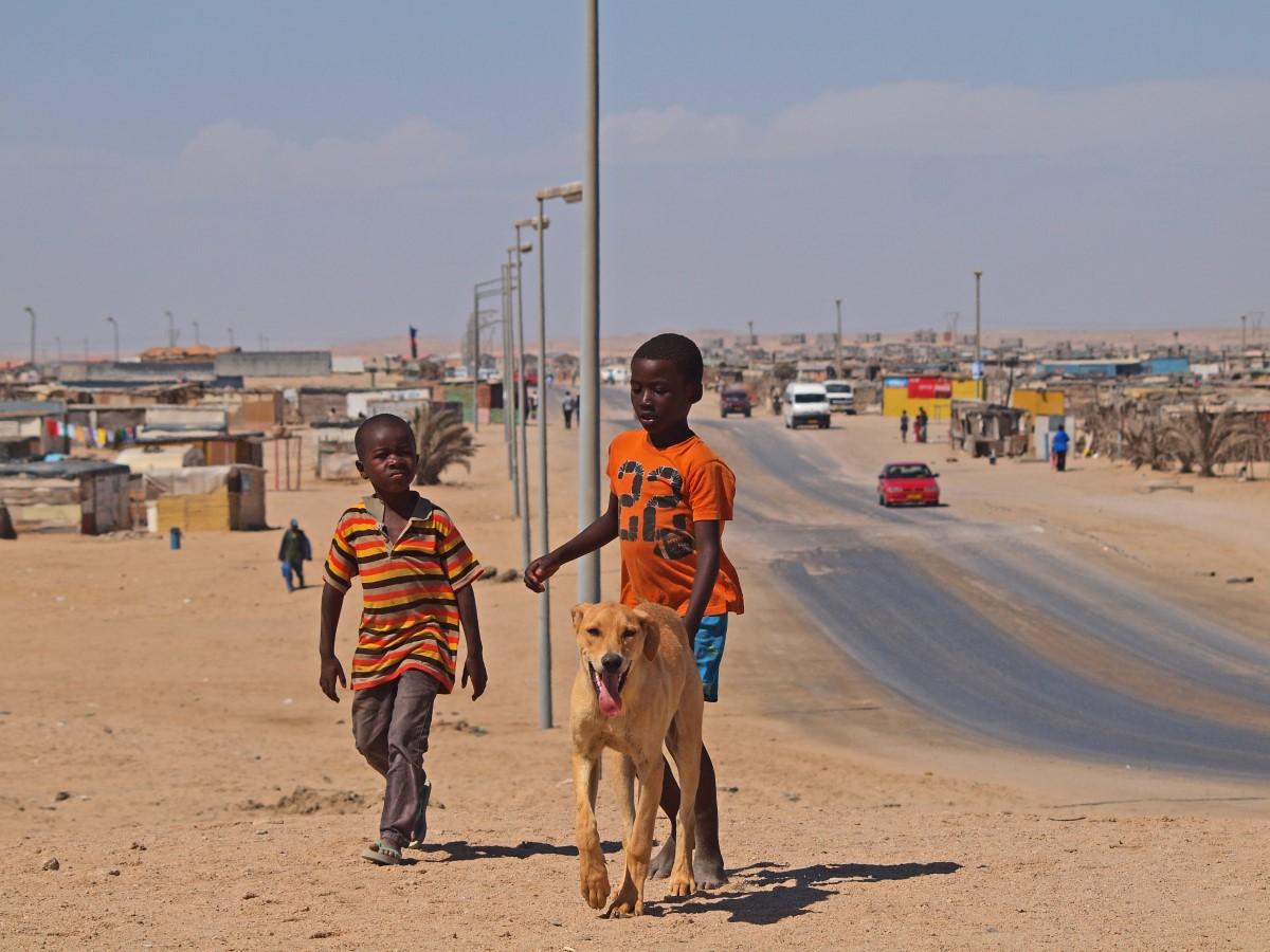 Kinder in Swakopmund