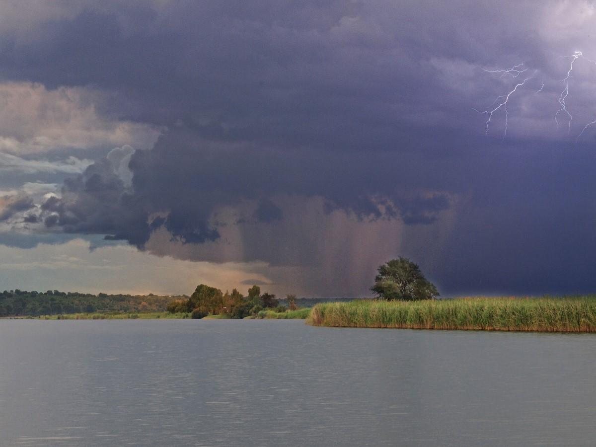 Onweer boven de Chobe rivier