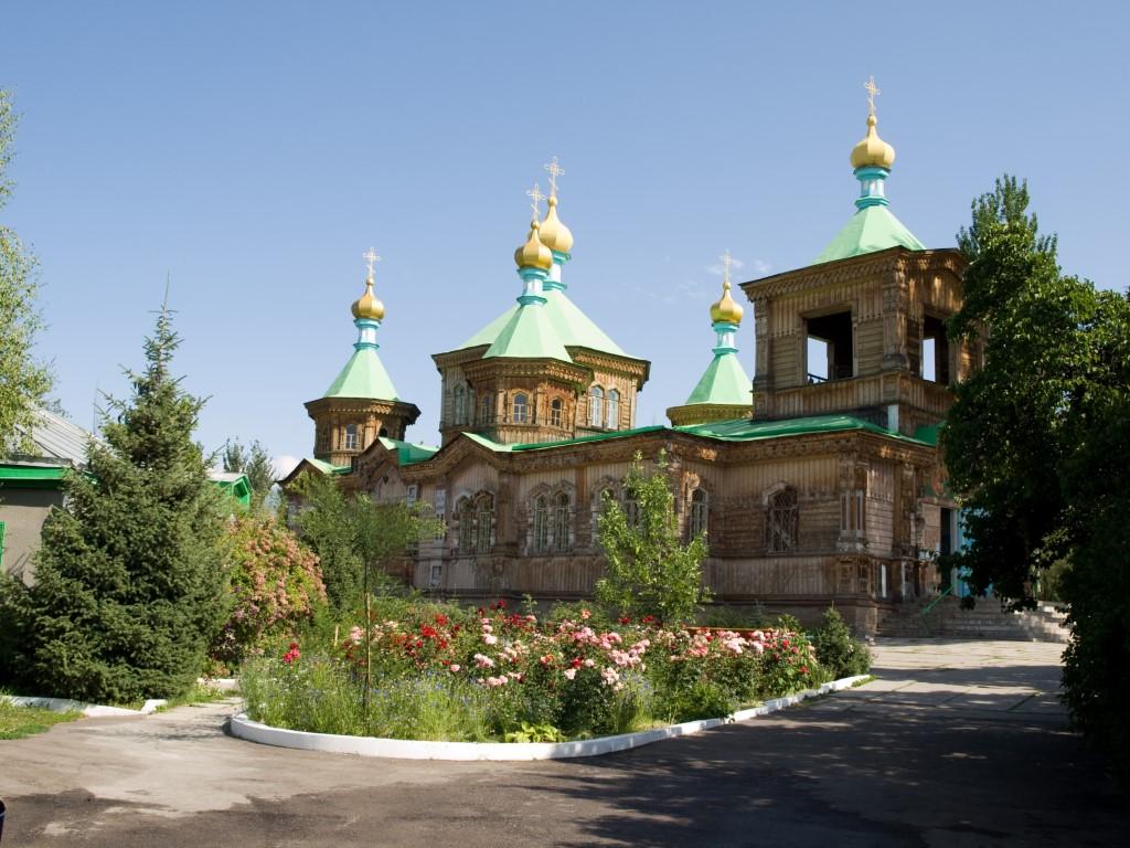 kerk van hout in Karakol