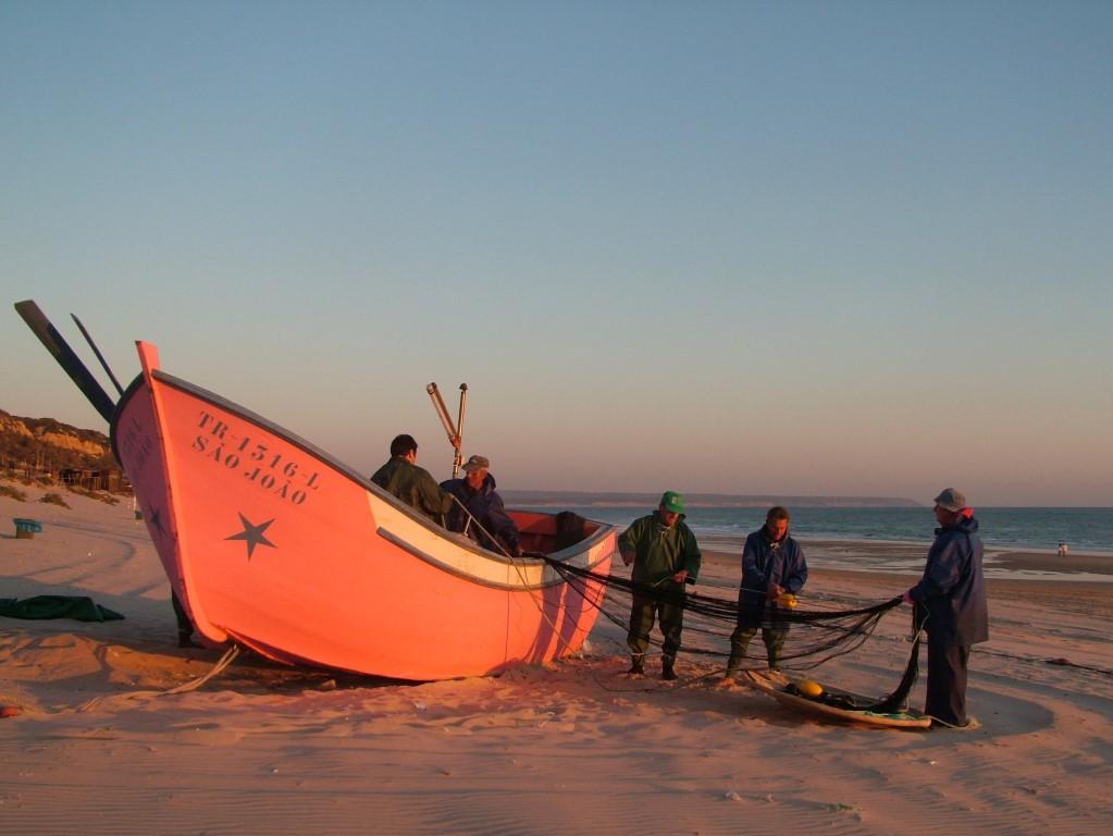 Boot op het strand