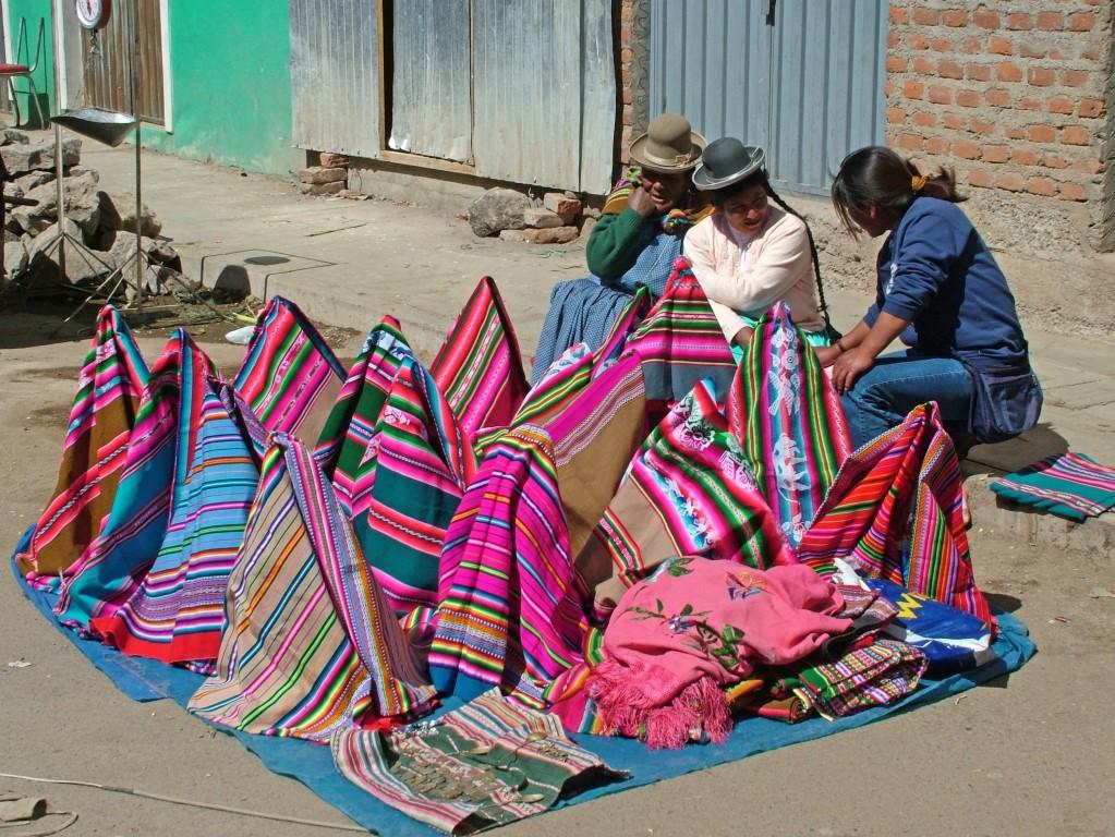 draagdoeken op de markt.
