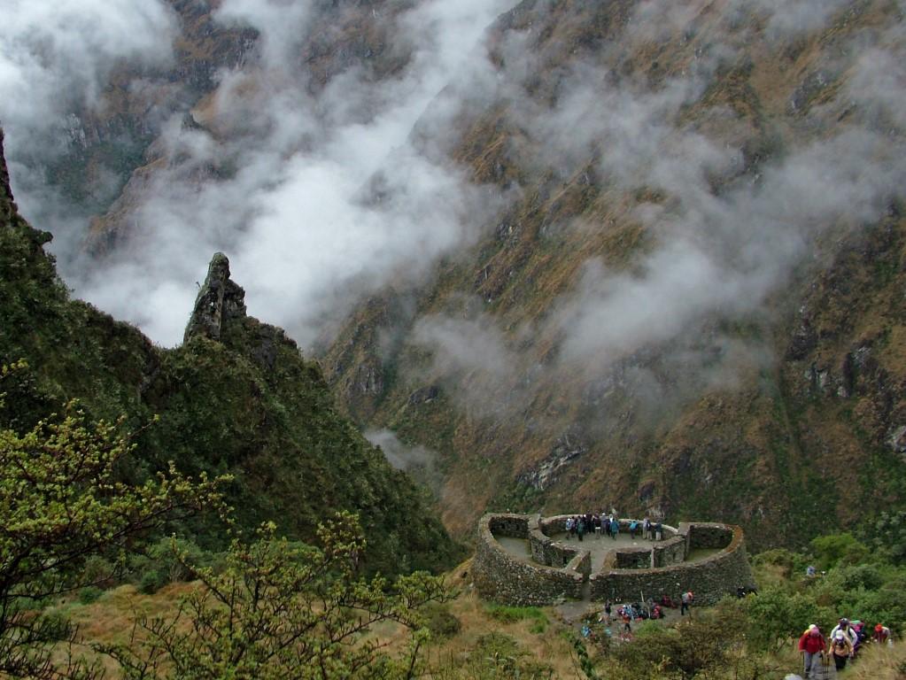 ruine langs het Inca pad
