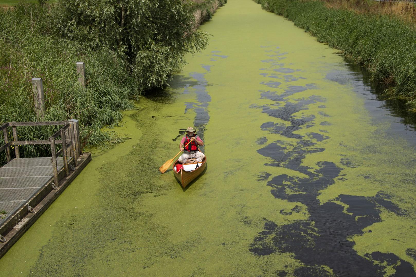 Nick in zijn kano